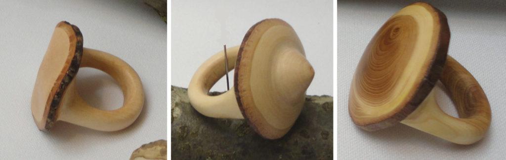 Expositie Twee levens van hout Ringen van hout handgemaakt